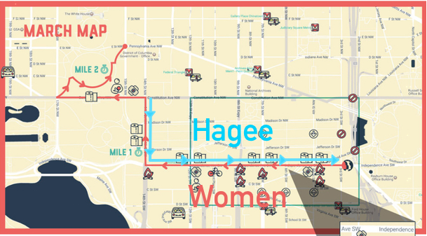 Heroic John Hagee Will Dribble A Basketball In The Opposite - Womens march map of the us